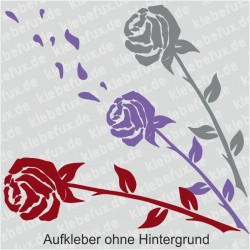 Rosenaufkleber fürs Auto Nr. 1