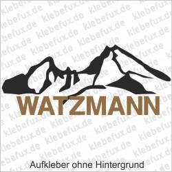 Watzmann Aufkleber