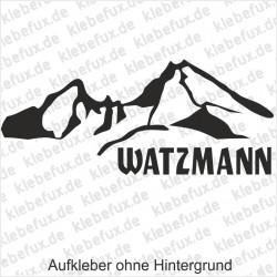 Watzmann Aufkleber Nr. 2