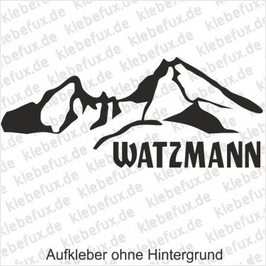 Watzmann Aufkleber 2