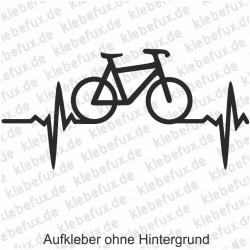 Hobbyaufkleber Herzschlag und Fahrrad