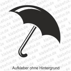 Aufkleber Schirm