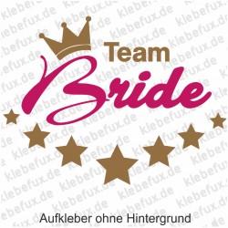 Aufkleber Team Bride Nr. 6