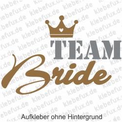 Aufkleber Team Bride Nr. 7