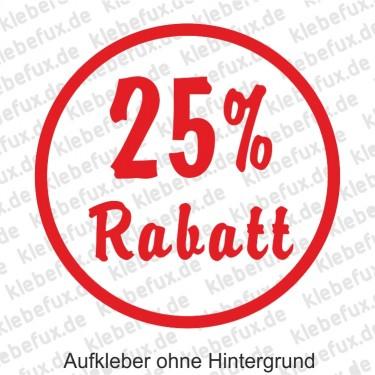 25% Rabatt Aufkleber