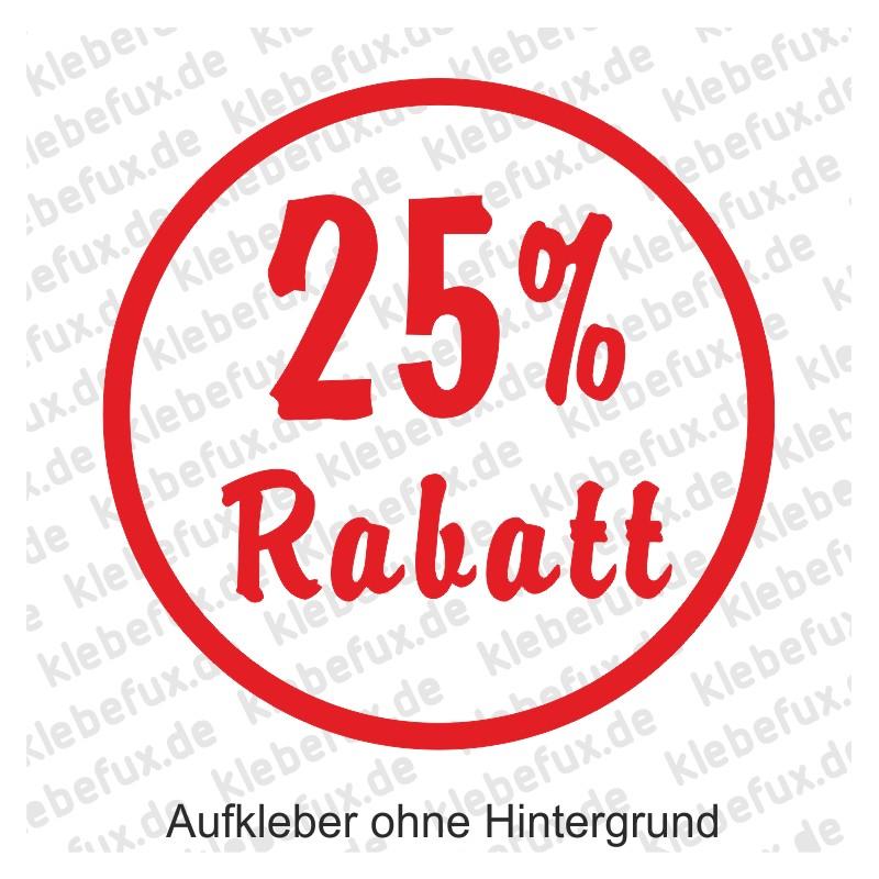 25% Rabatt Aufkleber - klebefux