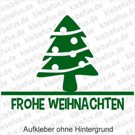 Leasing Weihnachtsbaum.Aufkleber Weihnachtsbaum Frohe Weihnachten Klebefux