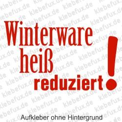 Winterware reduziert Aufkleber