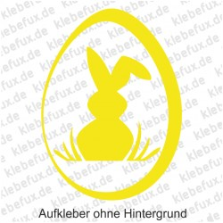 """Aufkleber für Ostern """"Hase mit Ei"""""""