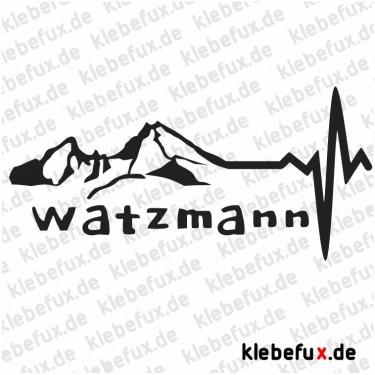 Aufkleber Watzmann