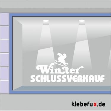 Aufkleber Winterschlussverkauf