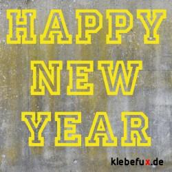 """Aufkleber """"Happy New Year"""""""