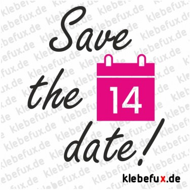 Aufkleber Save the Date