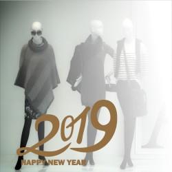 Aufkleber Neujahrsgrüße 2019 Nr. 1
