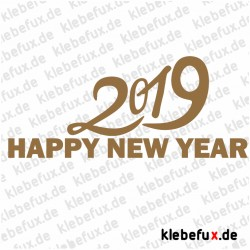 Aufkleber Neujahrsgrüße 2019 Nr. 2