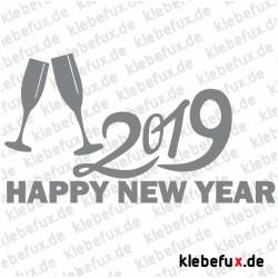 Aufkleber Neujahrsgrüße 2019 Nr. 3