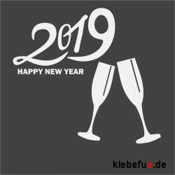 Aufkleber Neujahrsgrüße 2019 Nr. 4
