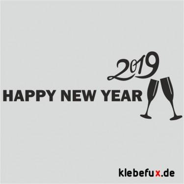 Aufkleber Neujahrsgrüße 2019 Nr. 5