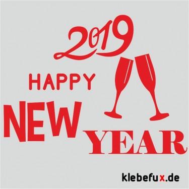 Aufkleber Neujahrsgrüße 2019 Nr. 6