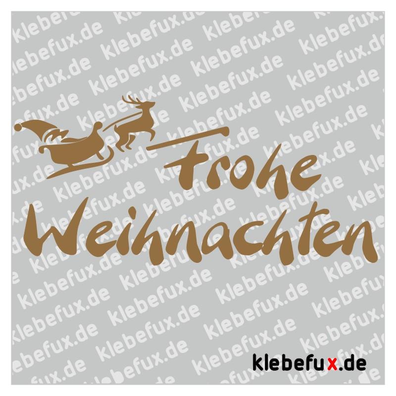 Frohe Weihnachten Aufkleber.Aufkleber Frohe Weihnachten Rentiere Mit Schlitten Klebefux