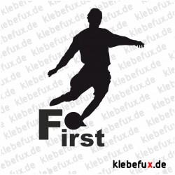 Aufkleber Fußball First