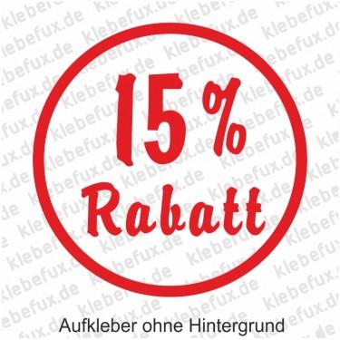 Aufkleber 15% Rabatt