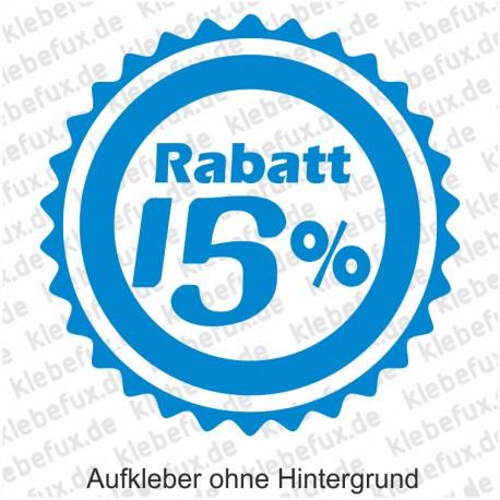 Aufkleber 15% Rabatt Nr. 2