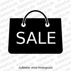 Aufkleber mit Tasche und dem Schriftzug Sale