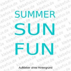 Aufkleber Summer Sun Fun Nr. 1