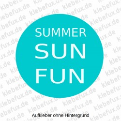 Aufkleber Summer Sun Fun Nr. 2