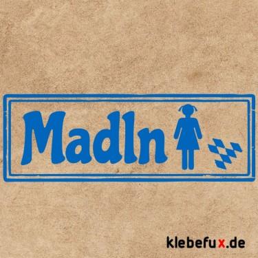 Aufkleber Bayern Toiletten madl