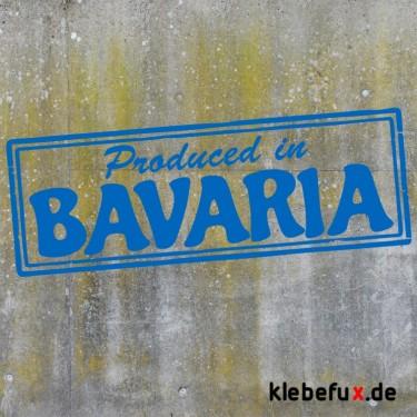 "Aufkleber ""Produced in Bavaria"""