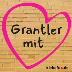 """Textilmotiv """"Grantler mit Herz"""""""