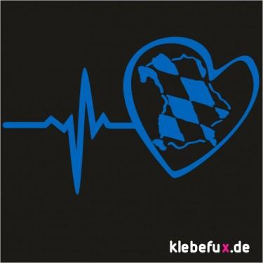 Aufkleber Bayern mit Herzschlag Nr. 5