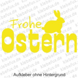 Frohe Ostern Aufkleber