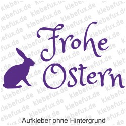 Frohe Ostern 3 Aufkleber