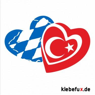 Aufkleber Bayern / Türkei