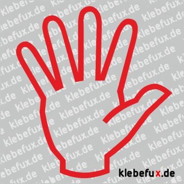 Aufkleber Hand