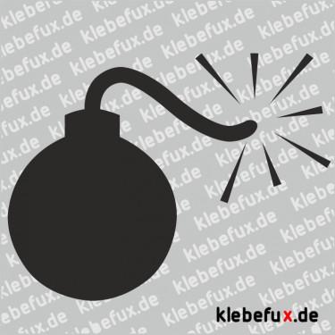 Aufkleber Bombe