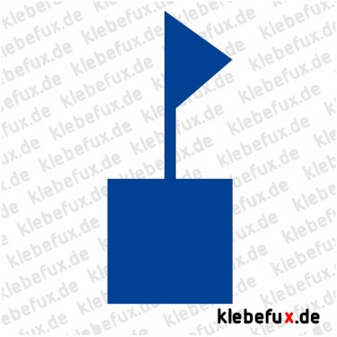 Aufkleber Flagge/ Wimpel