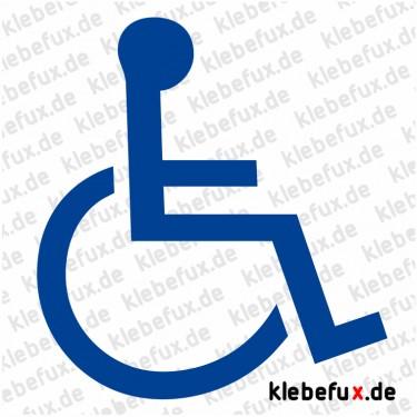 Aufkleber Rollstuhlfahrer