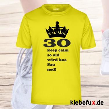 """Textil """"keep calm - 30"""" für Geburtstage"""
