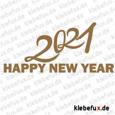 Aufkleber Neujahrsgrüße 2021 Nr. 2