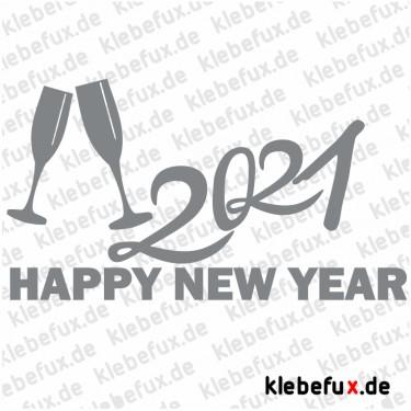 Aufkleber Neujahrsgrüße 2021 Nr. 3
