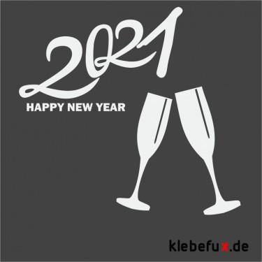 Aufkleber Neujahrsgrüße 2021 Nr. 4