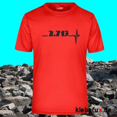 Textil Watzmann mit Höhenangabe mit Herzschlag