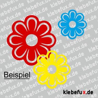 Aufkleber Blumen