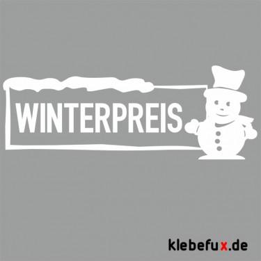 Aufkleber Winterpreis