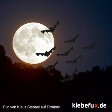 Aufkleber Halloween Fledermäuse