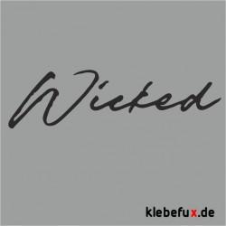 "Aufkleber ""wicked"" (böse)"
